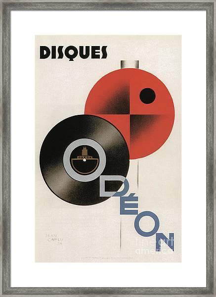 Vintage Vinyl Records Art Deco Framed Print