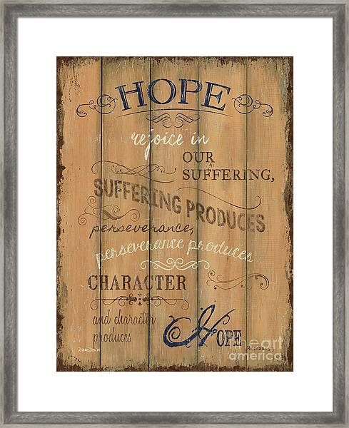 Vintage Wtlb Hope Framed Print