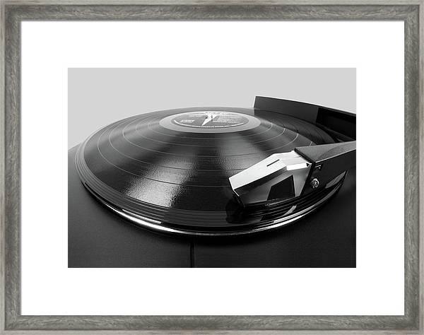 Vinyl Lp And Turntable Framed Print