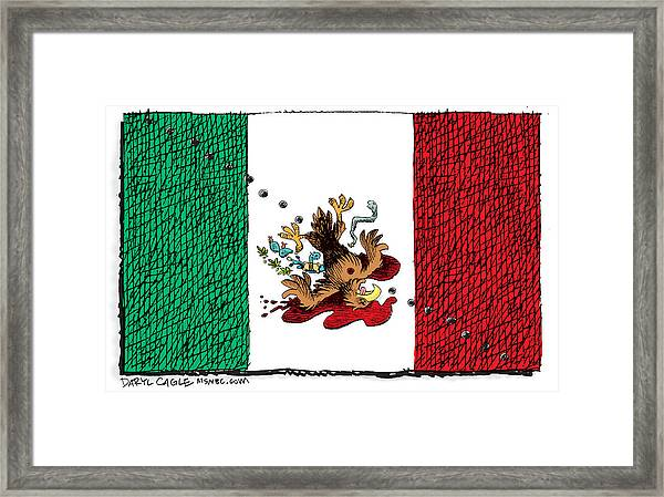 Violence In Mexico Framed Print