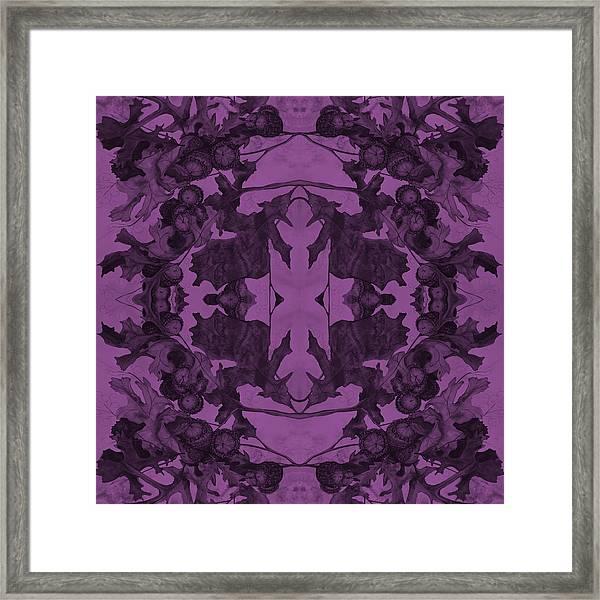 Violet Oak Tree Pattern Framed Print