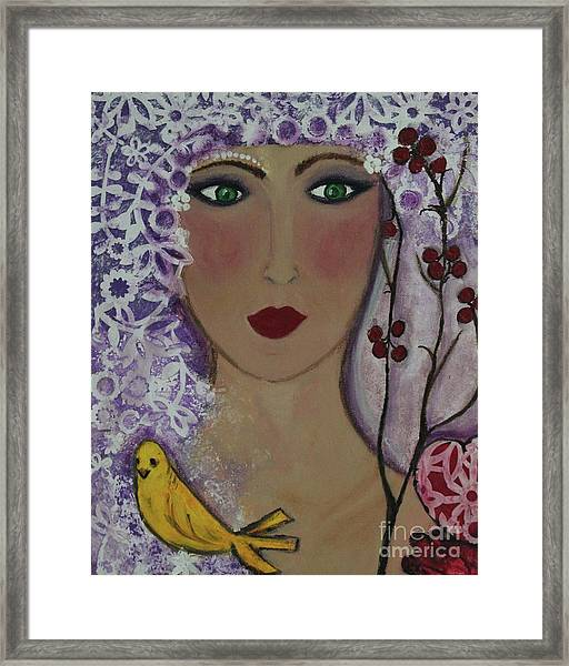 Violet Queen Framed Print