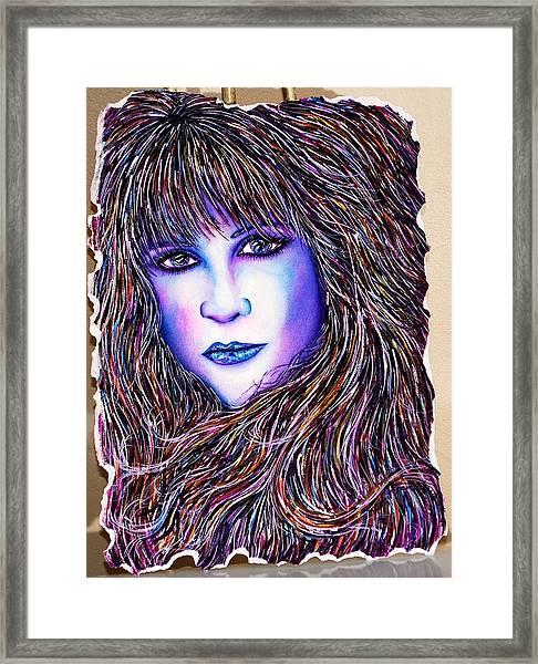 Violet Reflection Framed Print by Joseph Lawrence Vasile