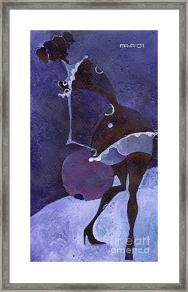 Violet Snawball Framed Print by Maya Manolova