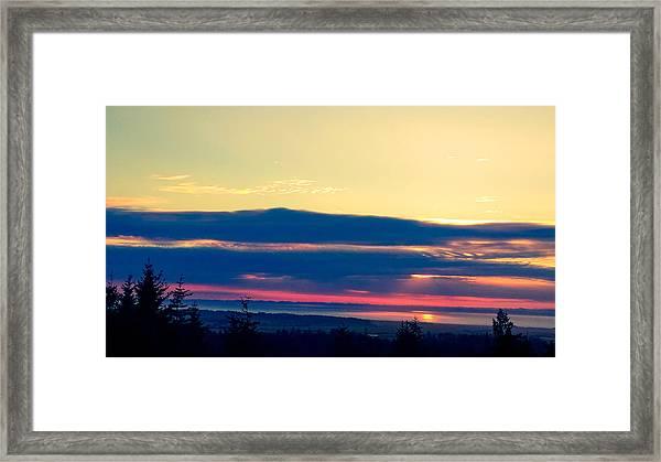 Violet Sunset Framed Print