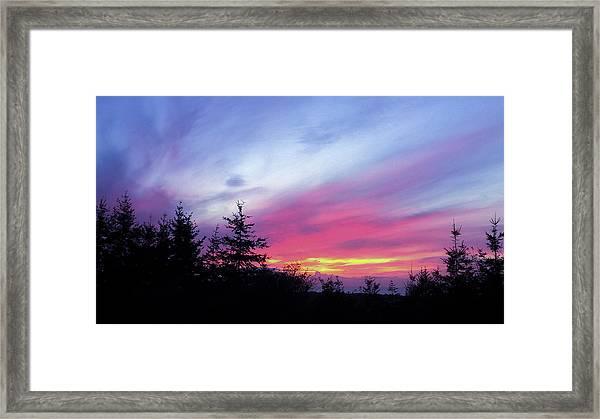 Violet Sunset II Framed Print