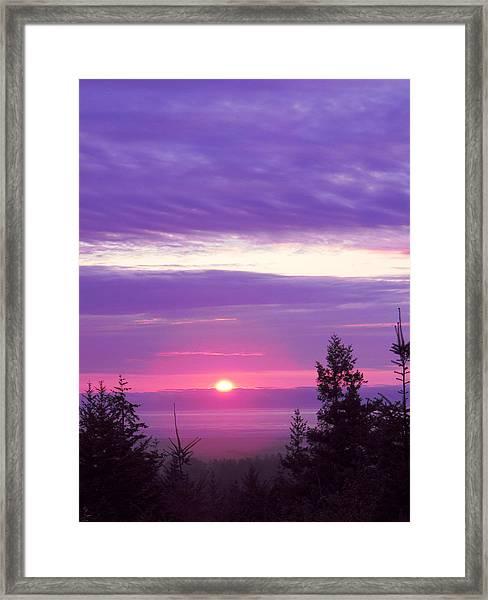 Violet Sunset IIi Framed Print