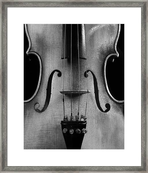 Violin # 2 Bw Framed Print