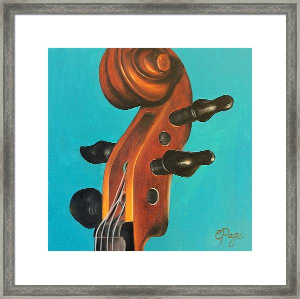 Violin Head Framed Print