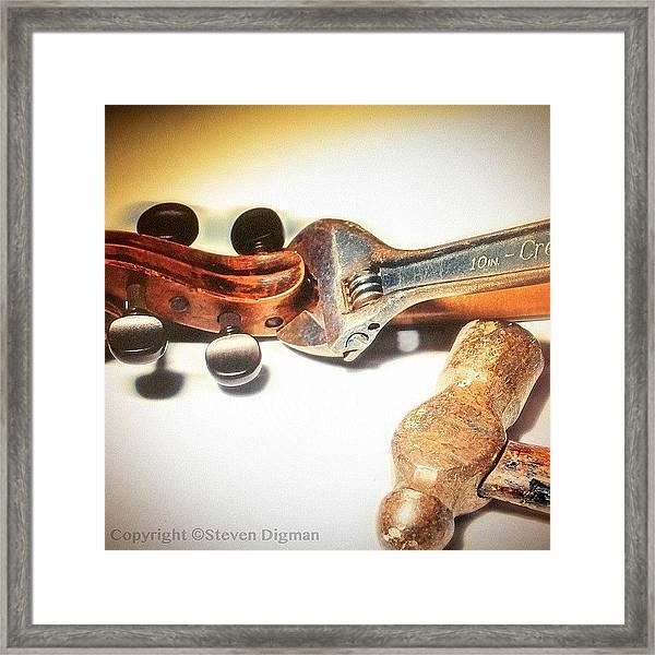 Violin Mechanics  Framed Print