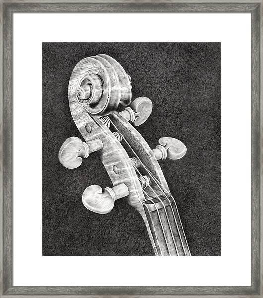 Violin Scroll Framed Print