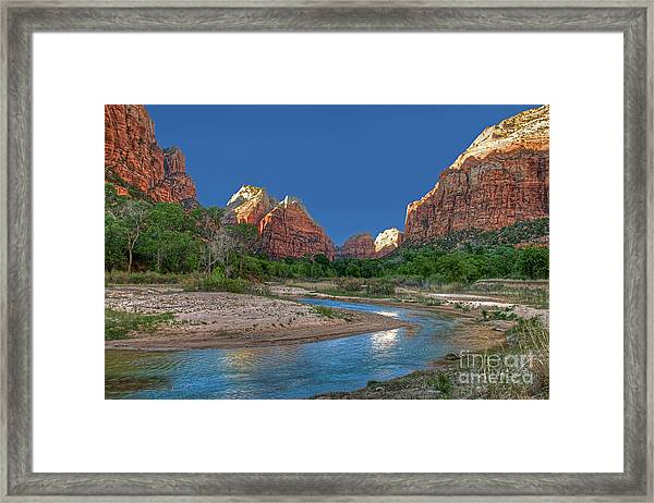 Virgin River Bend Framed Print