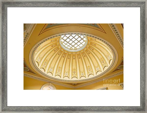 Virginia Capitol - Dome Profile Framed Print