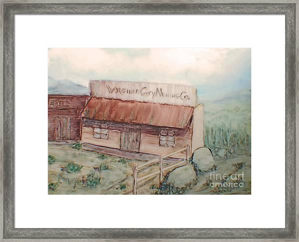 Virginia City Mining Co. Framed Print