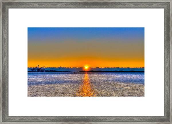 Virginia Key Sunrise Framed Print by William Wetmore
