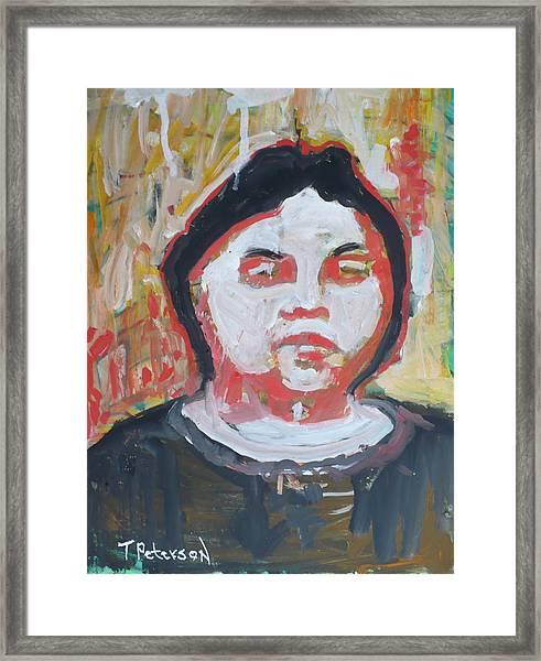 Vision Of Johanna Framed Print