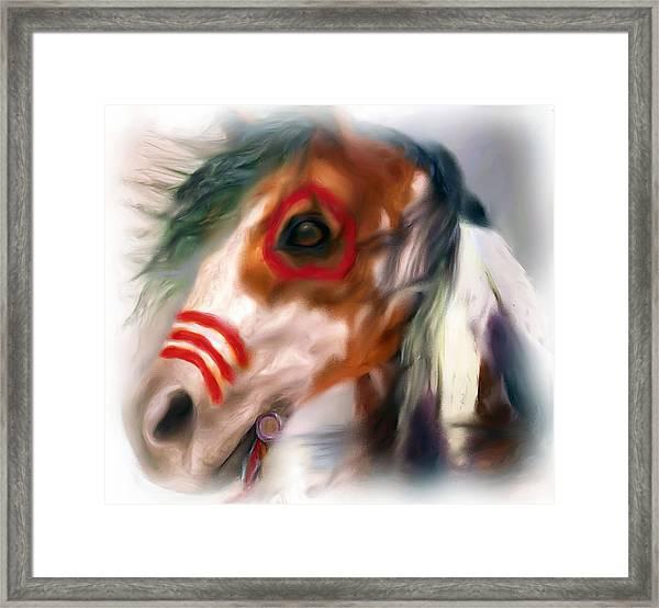 Visionary War Horse Framed Print