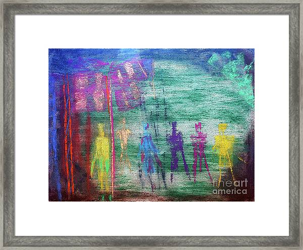Visions Of Future Beings Framed Print