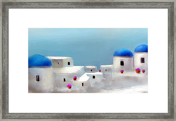 Visions Of Greece Framed Print