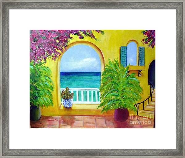 Vista Del Agua Framed Print