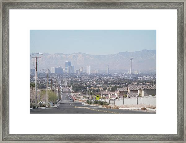 Vista Vegas Framed Print