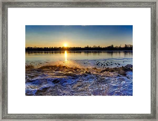 Vistula River Sunset 3 Framed Print