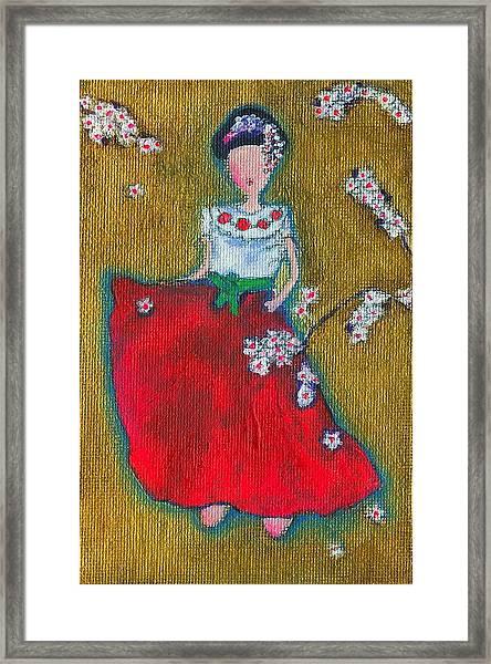 Viva Sakura Framed Print by Ricky Sencion