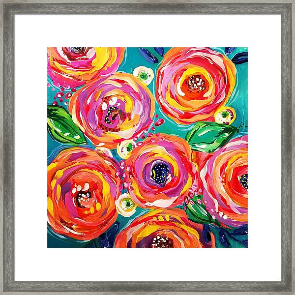 Vivid Flora Framed Print