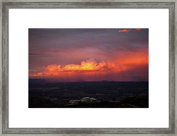 Vivid Verde Valley Sunset Framed Print