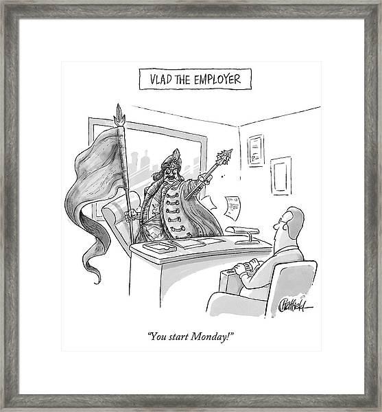 Vlad The Employer Framed Print