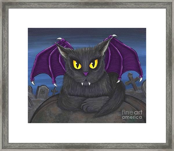 Vlad Vampire Cat Framed Print