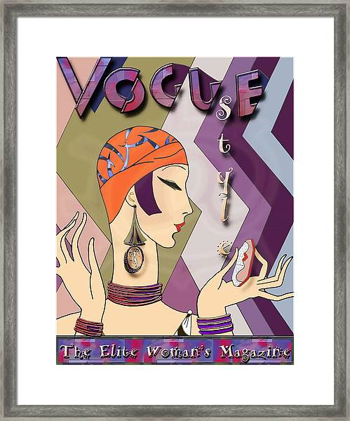 Vogue 5 Framed Print