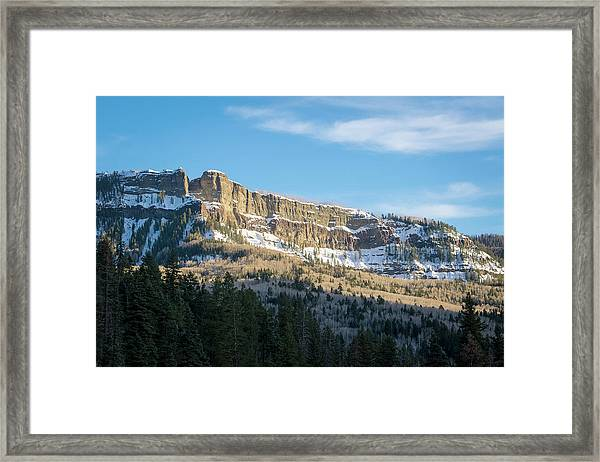 Volcanic Cliffs Of Wolf Creek Pass Framed Print