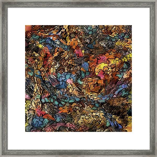 Volcanic Flow Framed Print