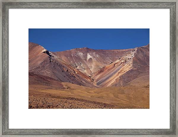 Volcano Crater In Siloli Desert Framed Print