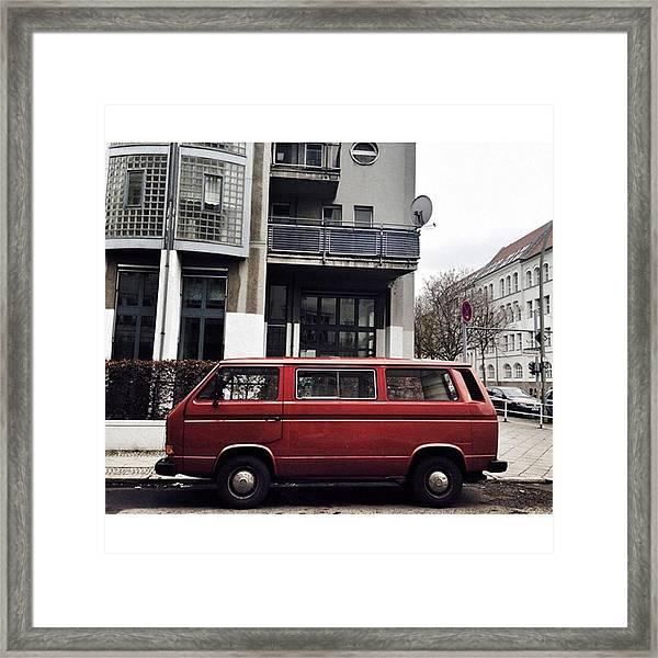 Volkswagen T3 Bus  #berlin #neukölln Framed Print