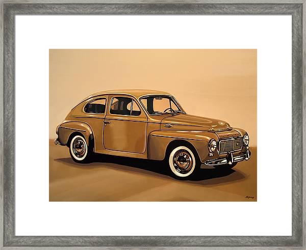 Volvo Pv 544 1958 Painting Framed Print