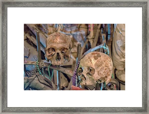 Voodoo Altar Framed Print