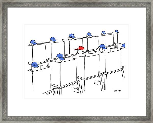 Voting In The 2017 Election Framed Print