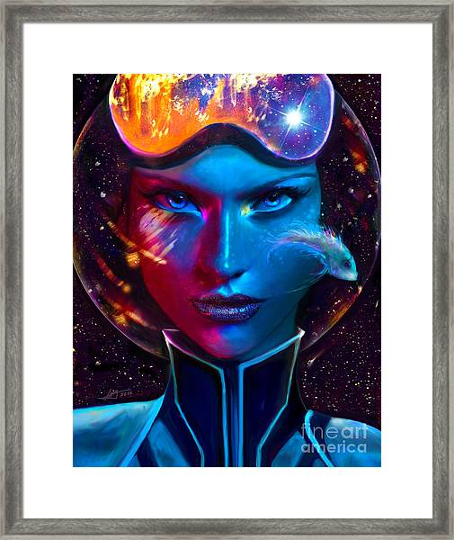 Voyager Beyond The Clouds Framed Print
