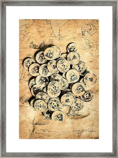 Voyages Of Old World Framed Print