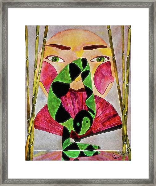 Framed Print featuring the painting Vrschikasana by Dee Browning