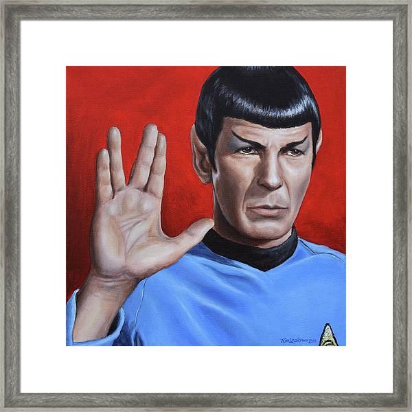 Vulcan Farewell Framed Print