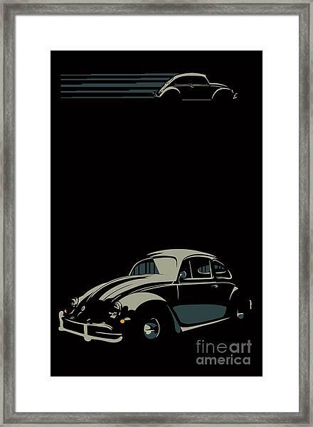Vw Beatle Framed Print