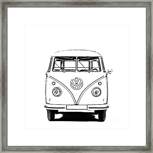 Framed Print featuring the photograph Bus  by Edward Fielding