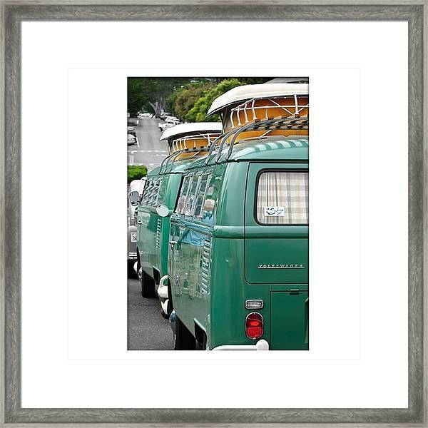 Vw Buses #carphotographer #vw #vwbus Framed Print