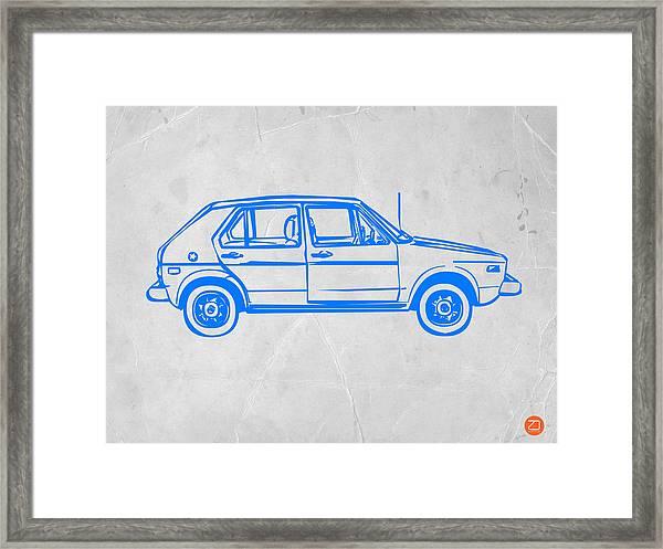 Vw Golf Framed Print