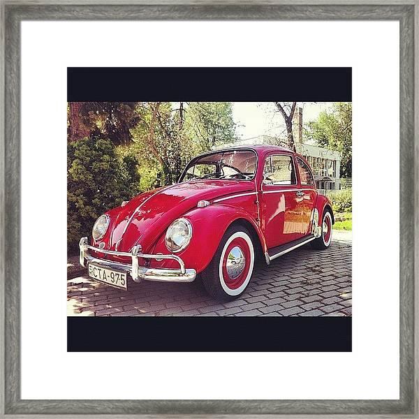 #vw #volkswagen #kafer #oldtimer Framed Print