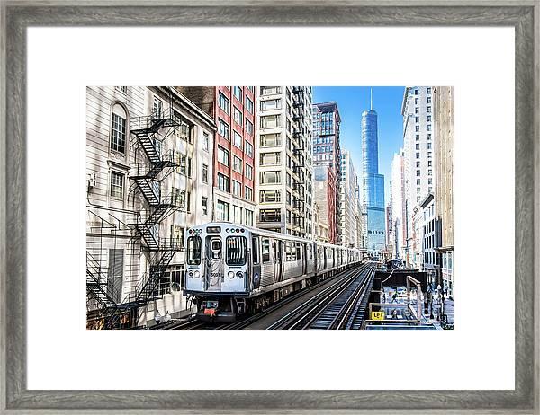 The Wabash L Train Framed Print