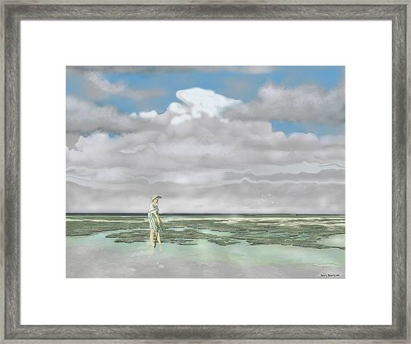 Wading The Salt Flats Framed Print